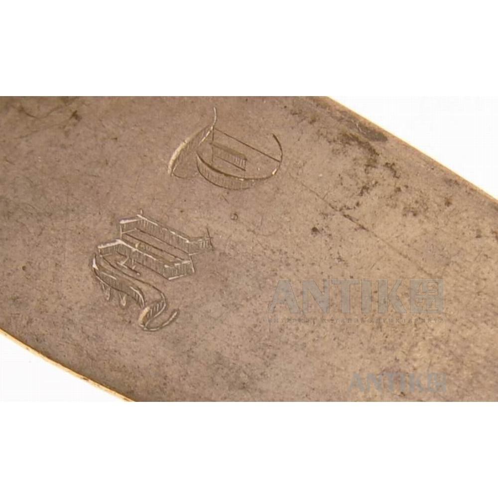 Серебряная столовая ложка 19 век.