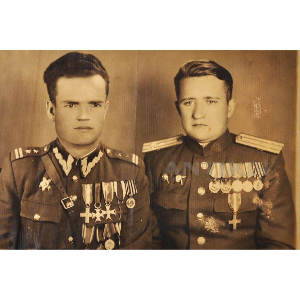 Боец Красной Армии и Войска Польского.