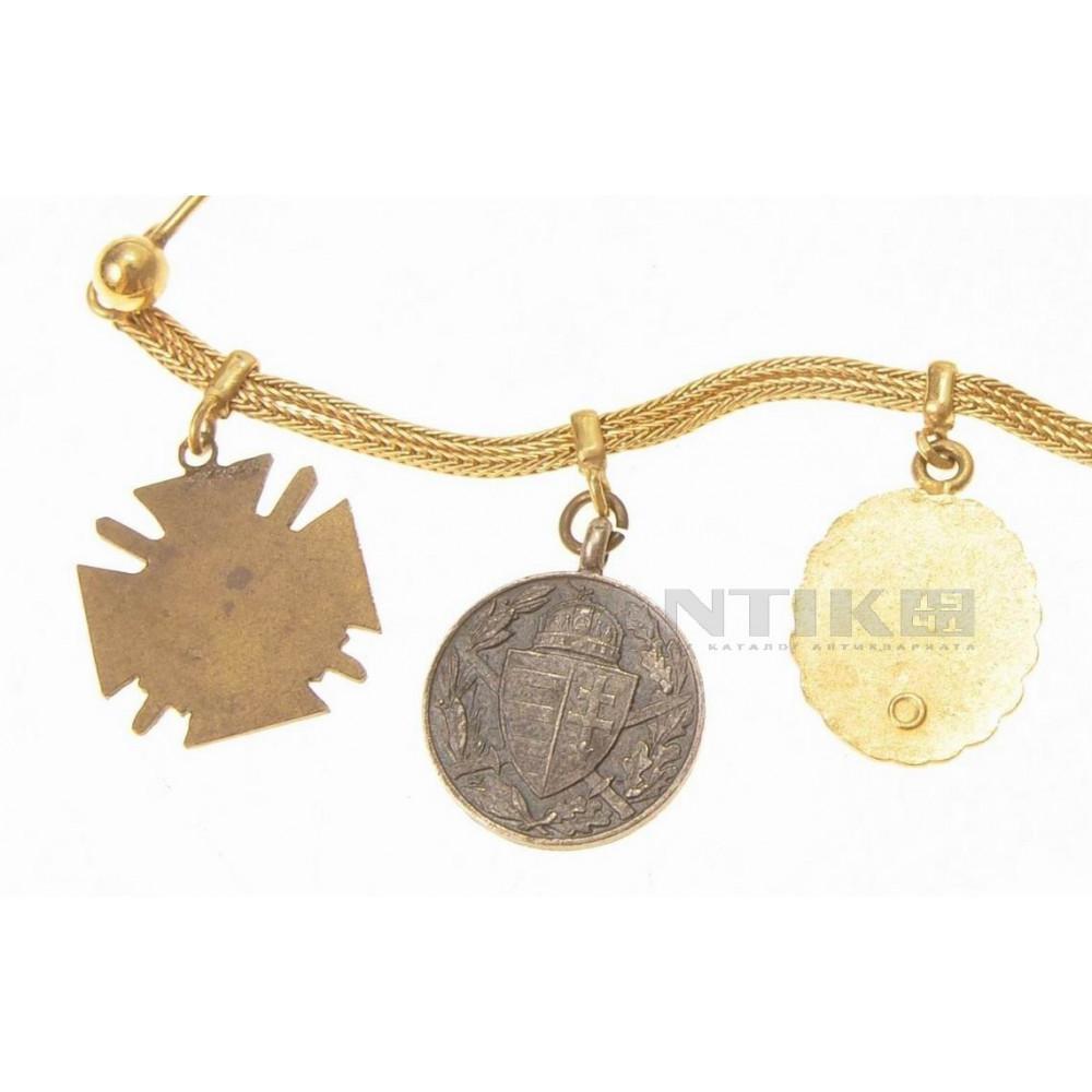Фрачные значки ветерана Первой Мировой Войны.